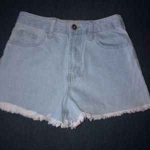 Fashion Nova Simply Me Demin Shorts